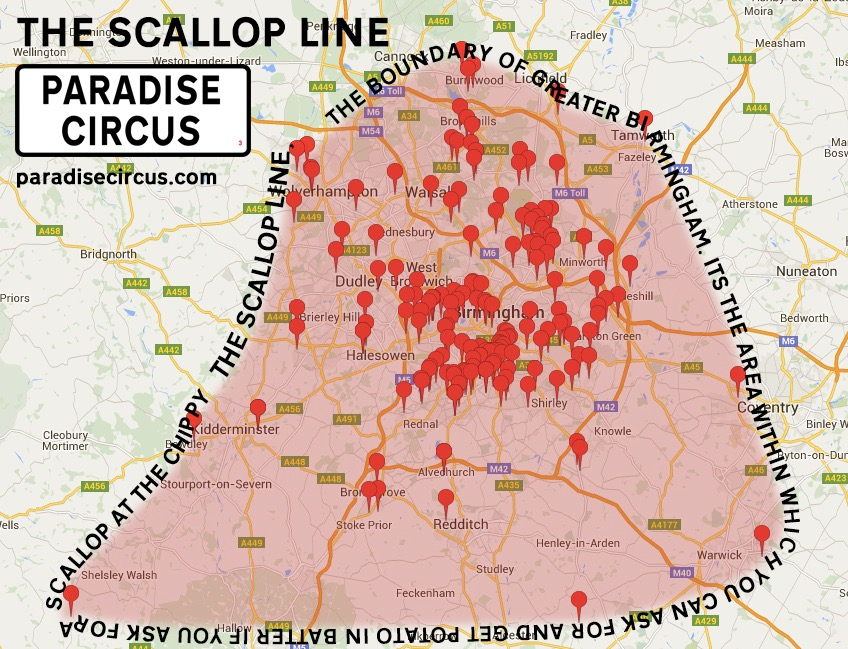 The scallop line: the true boundary of Greater Birmingham